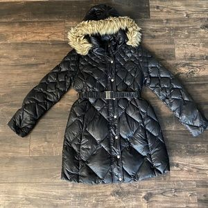 A pea in the pod black puff quilted winter coat